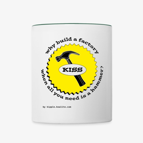 hammer taza gif - Contrasting Mug
