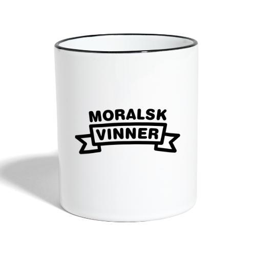Moralsk vinner, fra Det norske plagg - Tofarget kopp