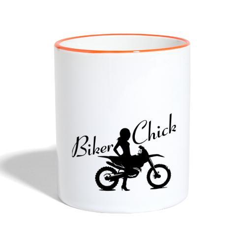 Biker Chick - Dirt bike - Kaksivärinen muki