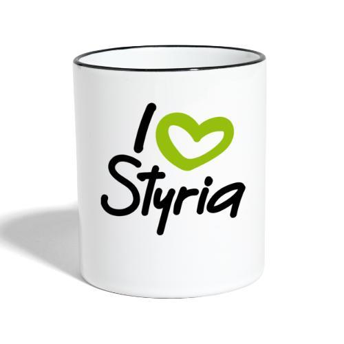 I love Styria. - Tasse zweifarbig
