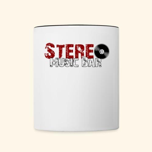 Stereo-Logo-Durchsichtig- - Tasse zweifarbig