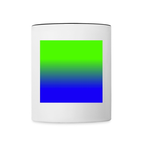 Linear pattern of green and blue - Contrasting Mug