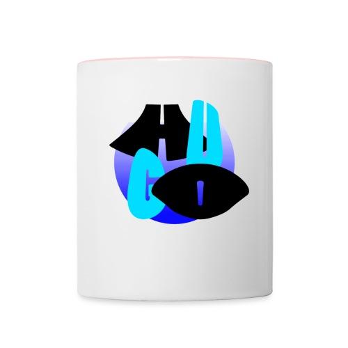 Hugo's logo transparant - Mok tweekleurig