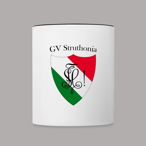 Wappen Struthonia beschriftet - Tasse zweifarbig