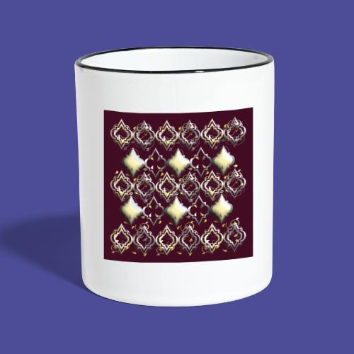 Gold auf Rot - Tasse zweifarbig