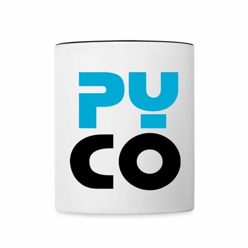 PYCO CARRE NOIR & bleu 40 - Mug contrasté