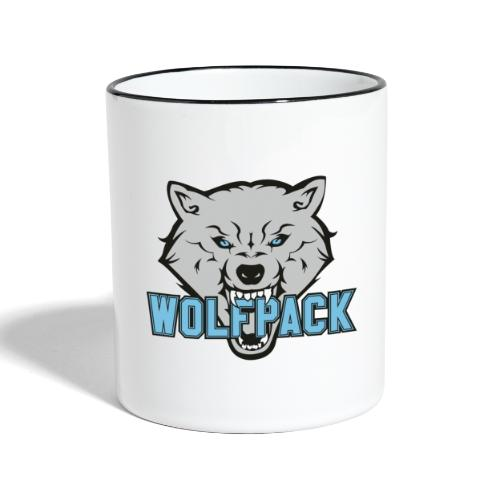 WOLFPACK CHEERLEADING - Tasse zweifarbig
