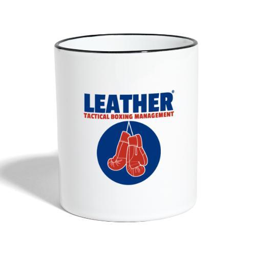 The LEATHER® Complete Logo - Vertical - Contrasting Mug