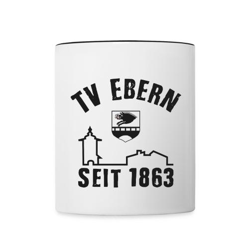 logo-tve-5-without-fb - Tasse zweifarbig