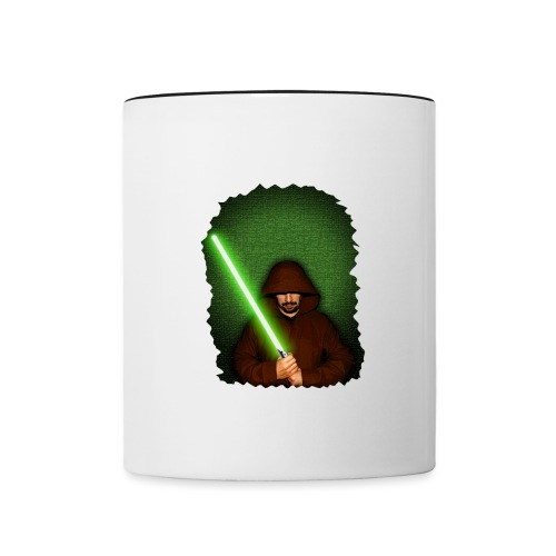 Jedi warrior with green lightsaber - Tazze bicolor