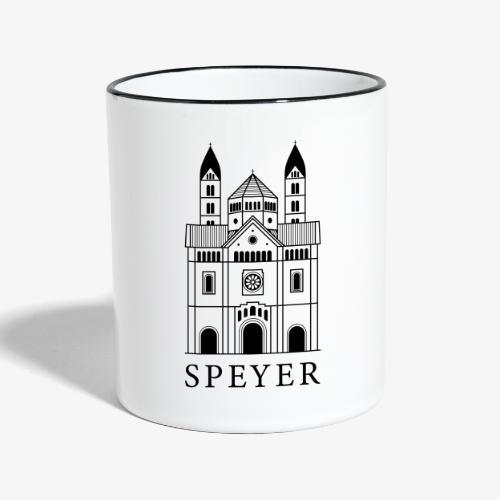 Speyer - Dom - Classic Font - Tasse zweifarbig