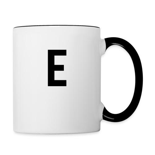 letter e 512 png - Contrasting Mug