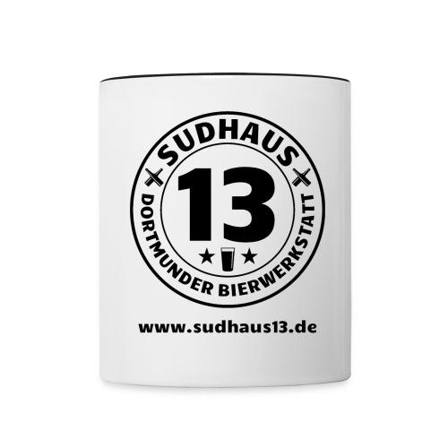 sudhaus13miturl png - Tasse zweifarbig