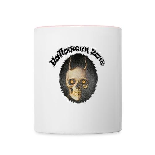 Halloween 2018 Horned Devil Skull - Contrasting Mug