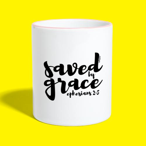 SAVED BY GRACE - Ephesians 2: 8 - Contrasting Mug