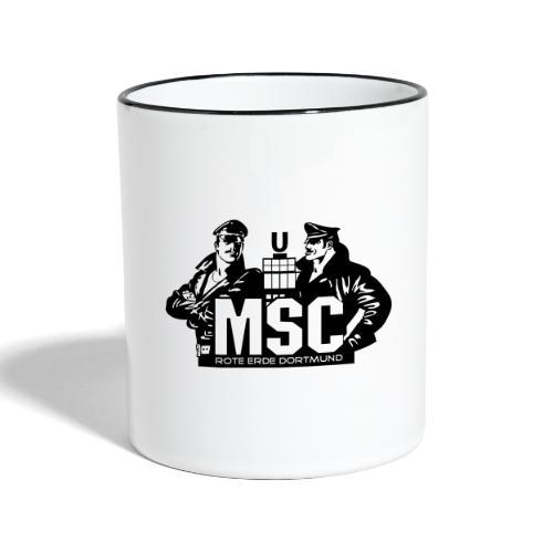 MSC logo spreadshirt - Tasse zweifarbig