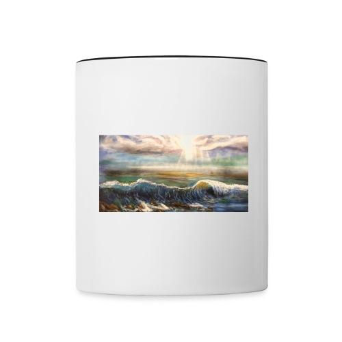 Welle - Tasse zweifarbig