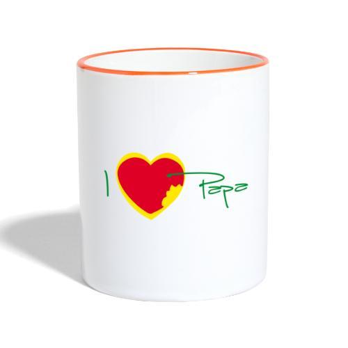 I love papa - Rasta Vert Jaune Rouge - Mug contrasté
