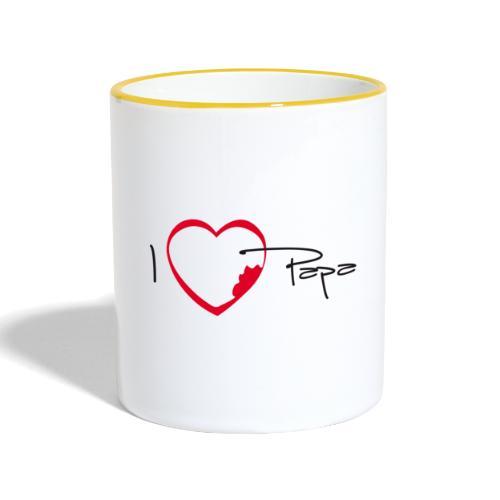 I love papa - Mug contrasté