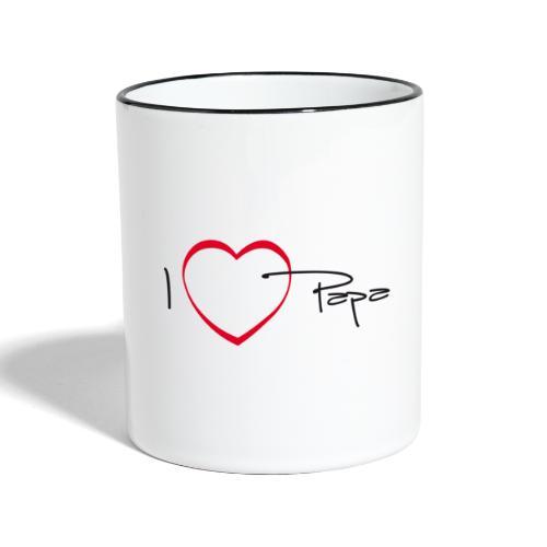 I love papa - 15 graph - Mug contrasté