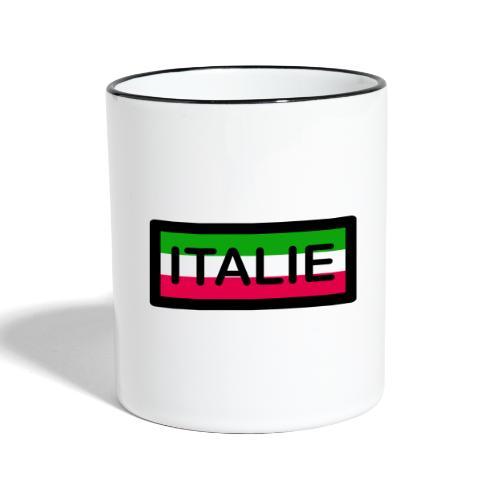Drapeau ITALIE - Mug contrasté