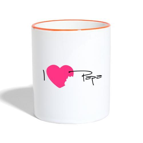 I love Papa 13 Vecto - Mug contrasté