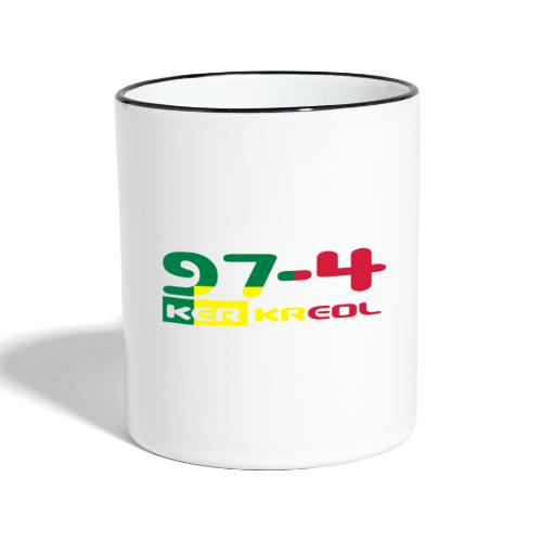 974 ker kreol Rastafari - Mug contrasté