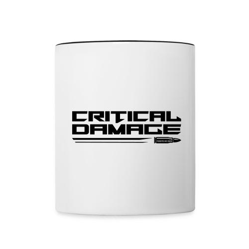 Critical Damage Tekst Logo - Mok tweekleurig