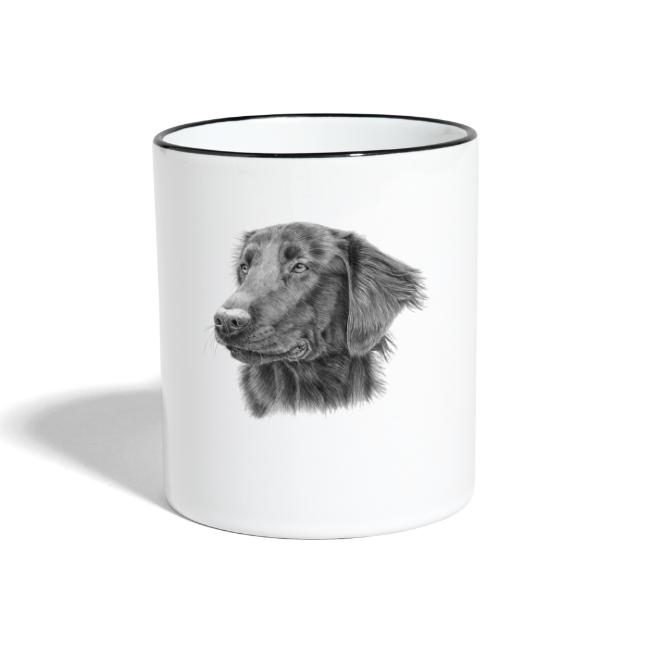 flatcoated retriever bw