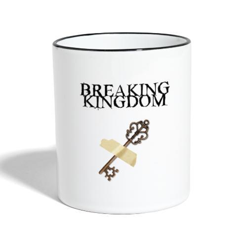 BK-Weißes-Design - Tasse zweifarbig