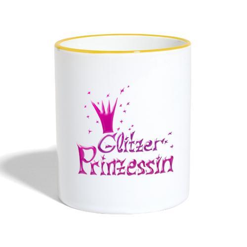 Rosa Glitzer Prinzessin - Tasse zweifarbig