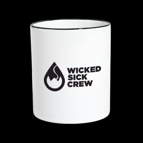 Wicked Sick Crew Tropfen schwarz - Tasse zweifarbig