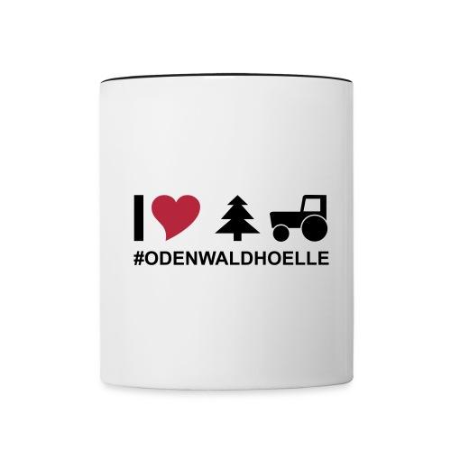 I love odenwaldhoelle Piktogramm - Tasse zweifarbig