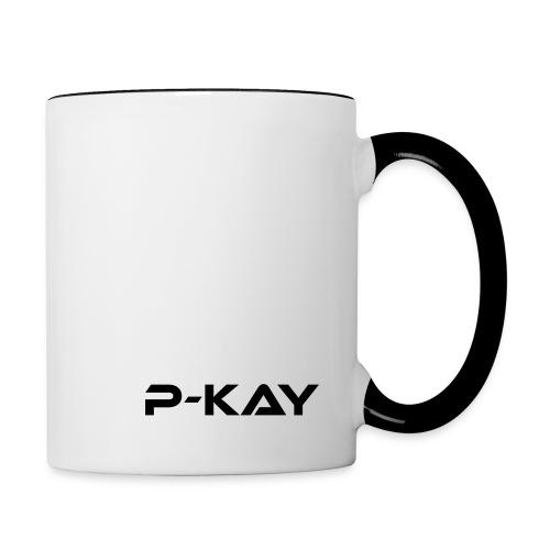 P Kay nur Schrift png - Tasse zweifarbig