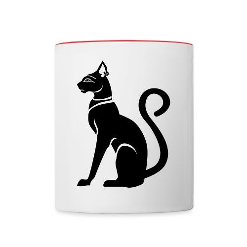 Bastet - Katzengöttin im alten Ägypten - Tasse zweifarbig