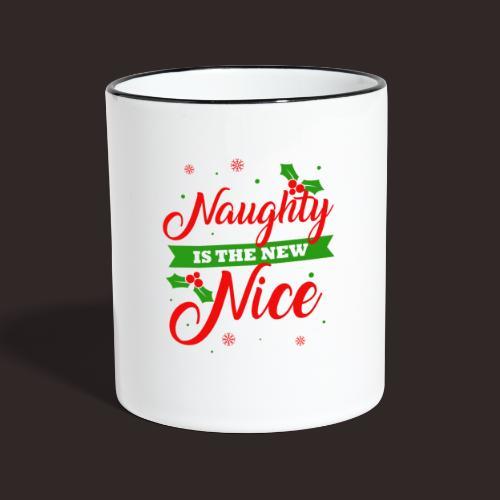 Weihnachten   unartig artig nett - Tasse zweifarbig