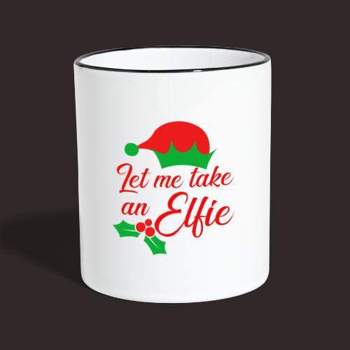 Weihnachten | Elf Mütze Weihnachtself Wortspiel - Tasse zweifarbig