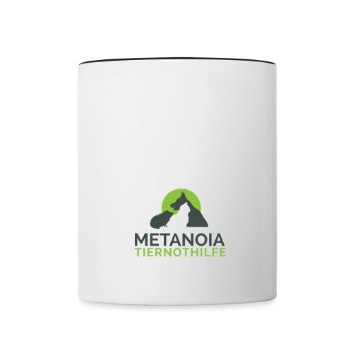 MetanoiaTiernothilfefinal png - Tasse zweifarbig