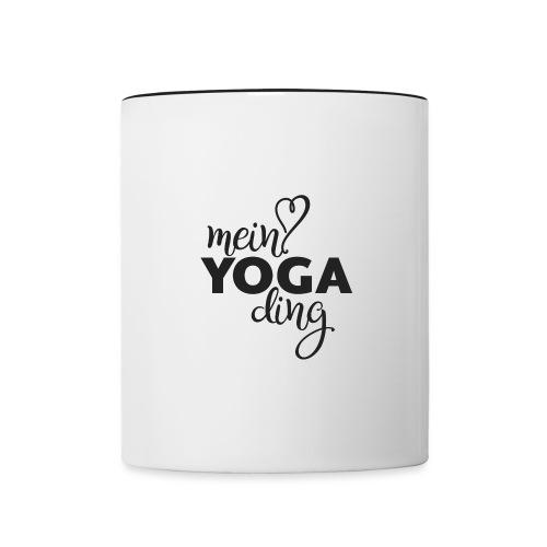 Mein Yogading schwarz - Tasse zweifarbig