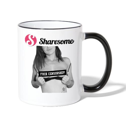 Sharesome Fuck Censorship - Contrasting Mug