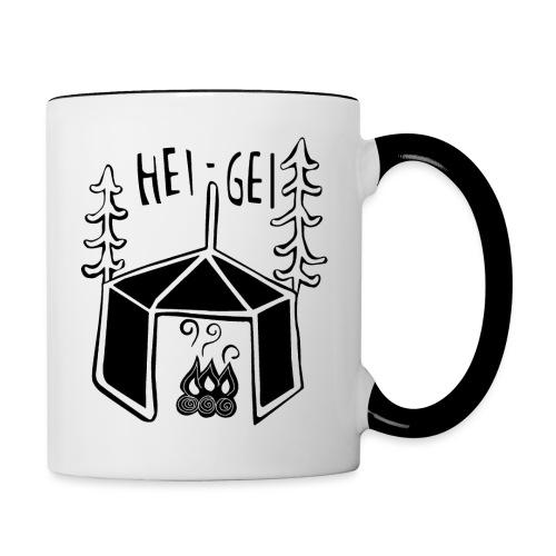 HeiGei Logo Schwarz - Tasse zweifarbig