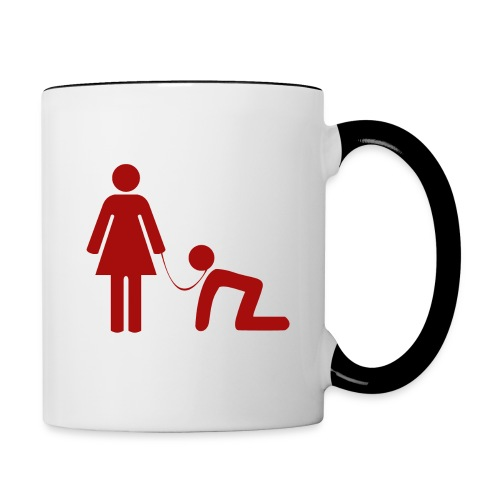 pet rouge png - Mug contrasté