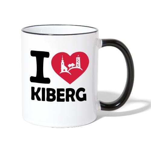 I love Kiberg - Tasse zweifarbig
