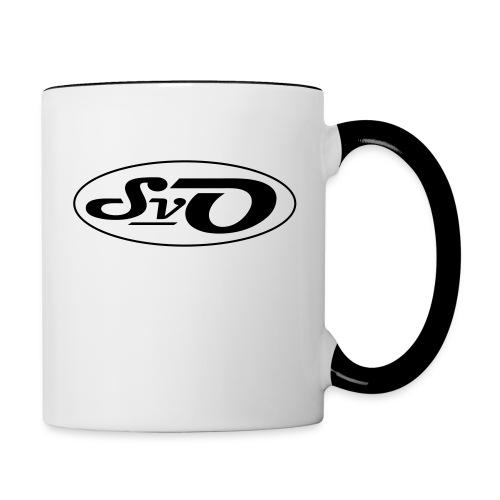 logo svo schwarz - Tasse zweifarbig