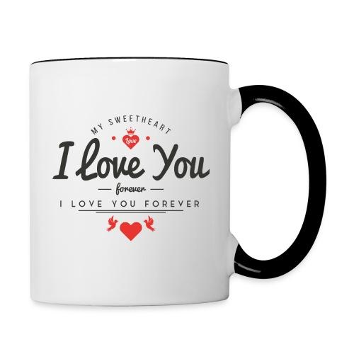 my sweetheart1 - Kubek dwukolorowy