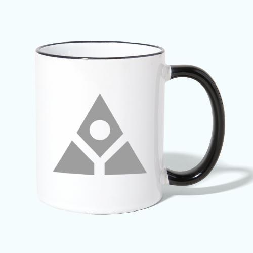 Sacred geometry gray pyramid circle in balance - Contrasting Mug