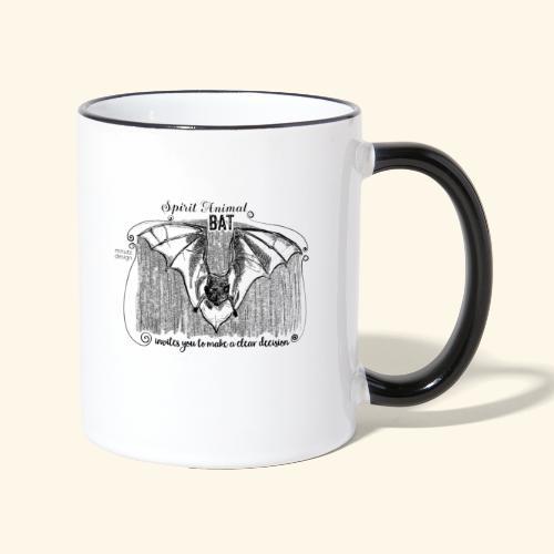 Spirit Animal Fledermaus schwarz - Tasse zweifarbig