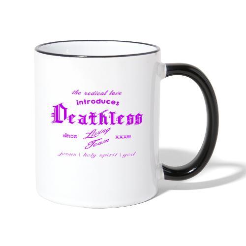 deathless living team violet - Tasse zweifarbig