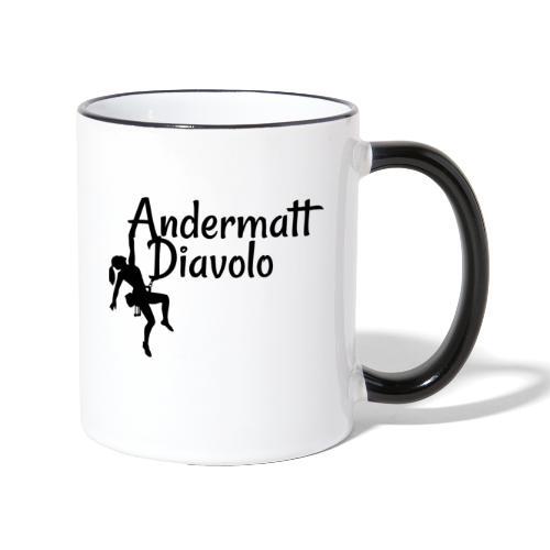 Andermatt Diavolo Uri Geschenkidee - Tasse zweifarbig