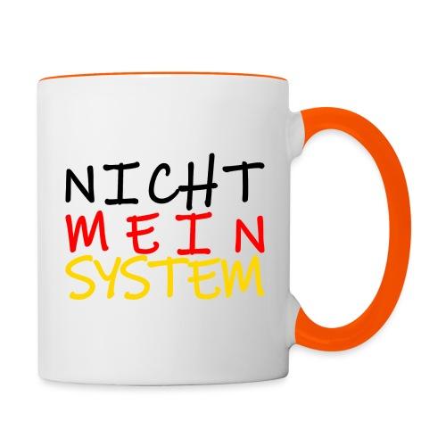 NICHT MEIN SYSTEM - Tasse zweifarbig